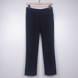 Elie Tahari Black Wool Blend Dress Pants